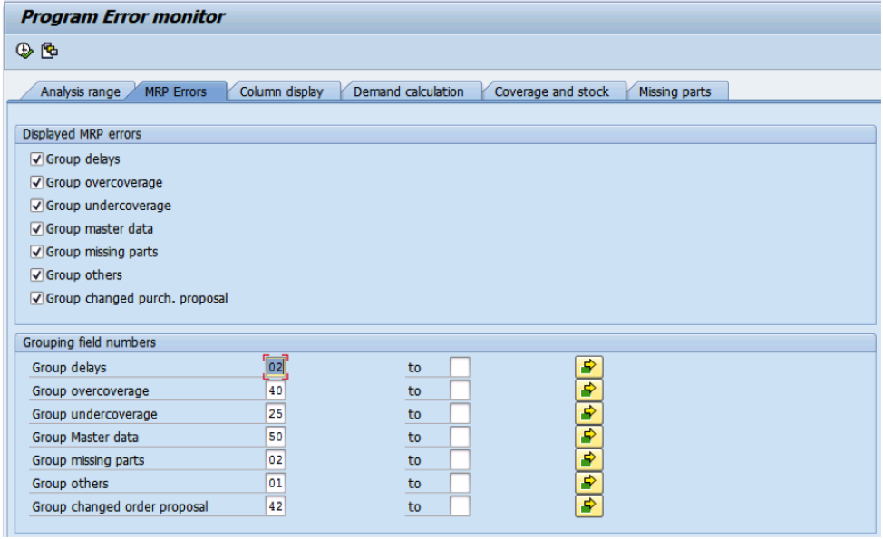 SAP MRP Exception Monitor